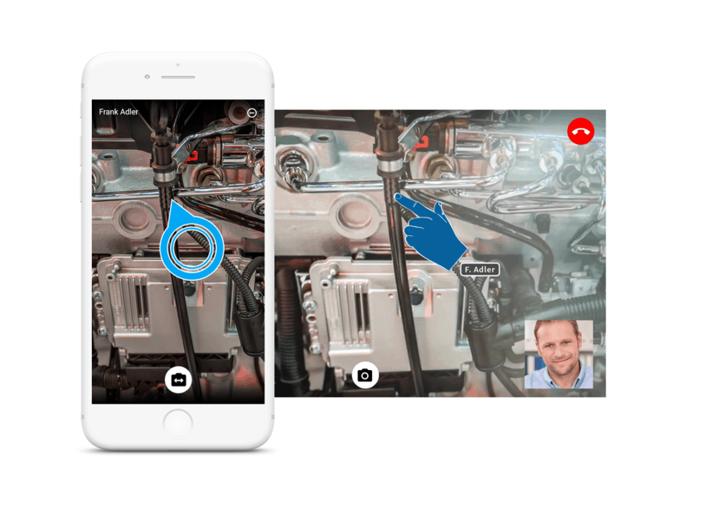 Augmented Reality innerhalb einer Videokonferenz in RISE